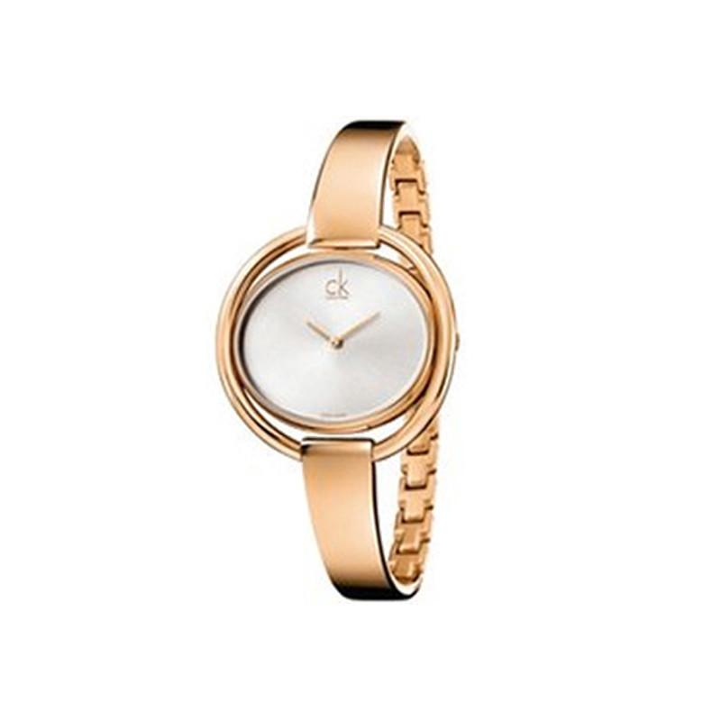 新款瑞士ck手表正品女表时尚休闲椭圆形折叠扣女士表