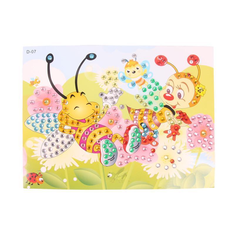 大贸商 钻石画 儿童创意diy手工制作水晶马赛克贴画 小蜜蜂款式 ef251