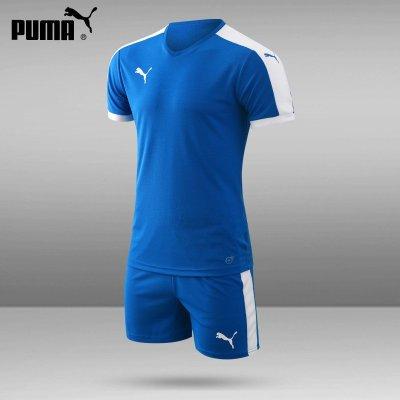 彪馬足球服套裝男短袖夏定制組隊服印號印字 足球訓練服 正品puma足球衣