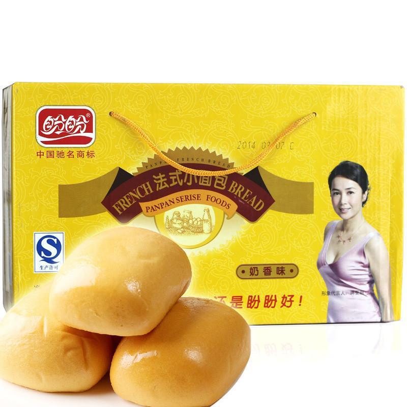 盼盼法式小面包 奶香味 盼盼食品早餐糕点软面包600g图片