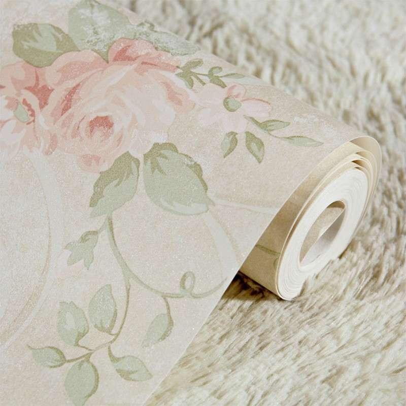纸尚美学无纺布墙纸 美式田园 ha33015彩铅手绘风格客厅卧室壁纸