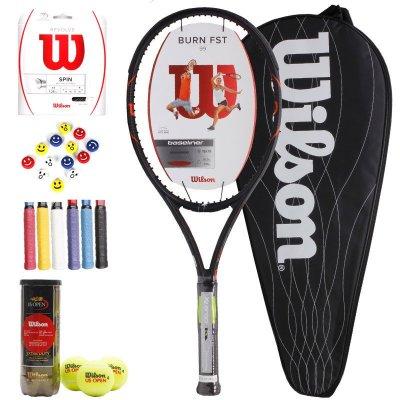包邮 Wilson威尔胜正品网球拍全碳素专业网球拍锦织圭BURN