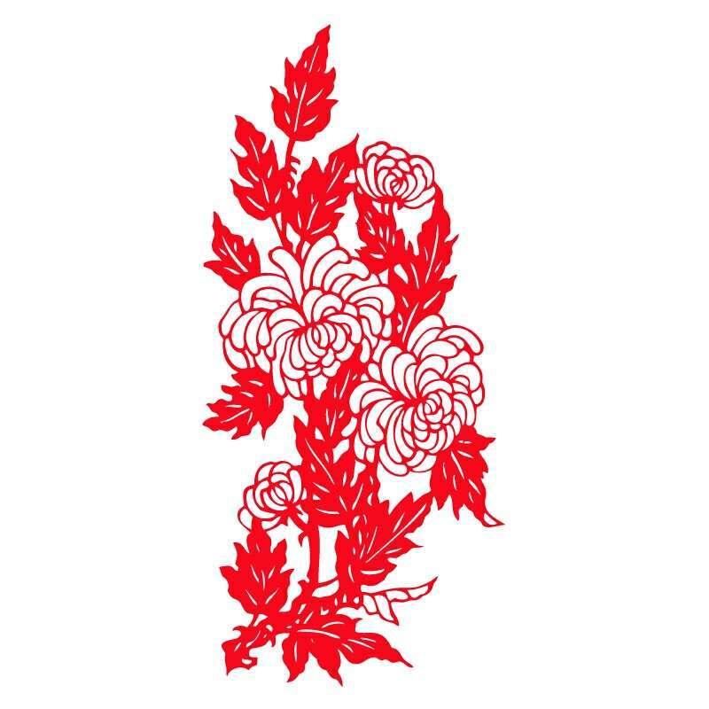 鱼立体福字大号挂联剪纸角福字风水挂件鸡窗花装饰画植绒不干胶设计订