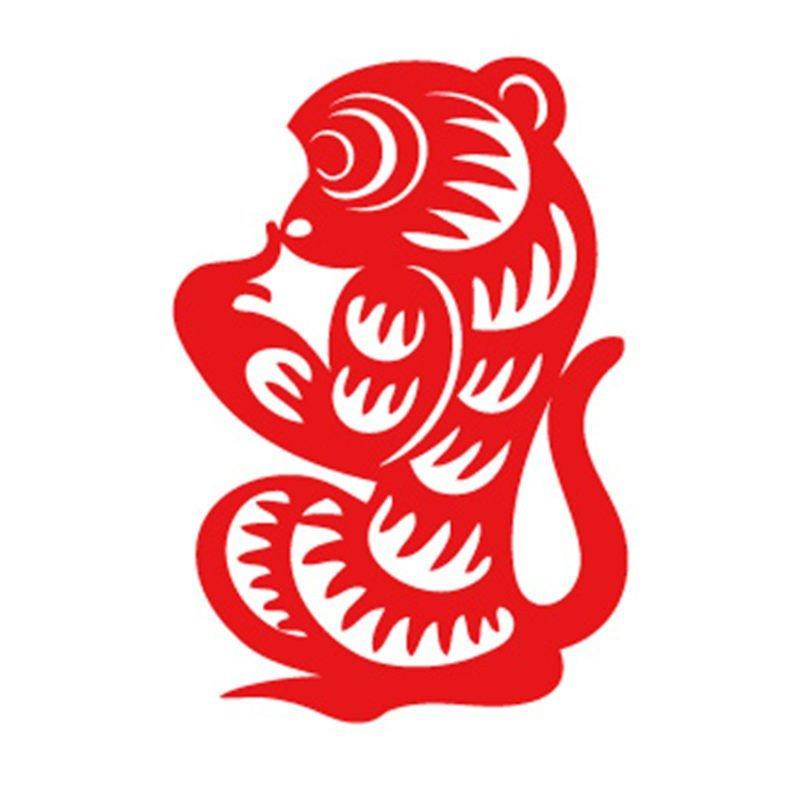 定制元旦春节橱窗装饰贴纸玻璃贴窗花剪纸定做