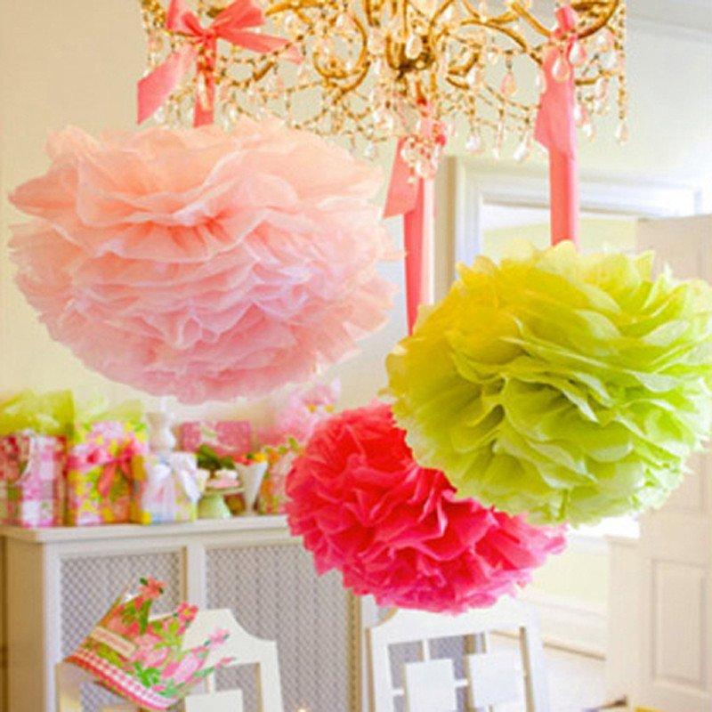 孩派 儿童宝宝生日聚会节日派对装饰布置用品道具 纸花球纸拉花