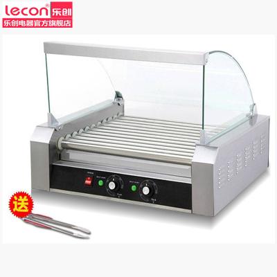樂創電器旗艦店(lecon)GD-G2-9熱狗機 9管烤腸機不帶保溫柜 雙控溫 不銹鋼香腸機 熱狗棒機 配罩子