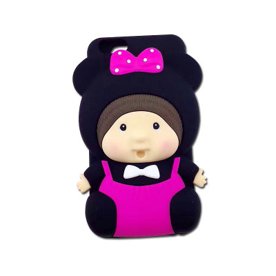 亿城(yicheer)可爱娃娃硅胶手机壳 苹果 iphone7 / 7plus / 5s / 6