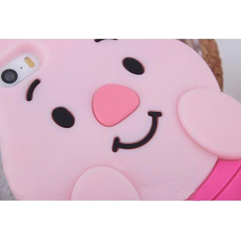 亿城(yicheer)iphone6手机壳迪斯尼 粉色猪猪 苹果5s硅胶手机保护壳