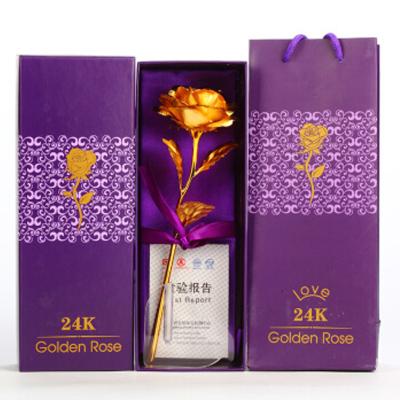 金色玫瑰花 金箔金玫瑰 礼物情人节生日礼品 金色玫瑰花 多色可选 七夕情人节礼物