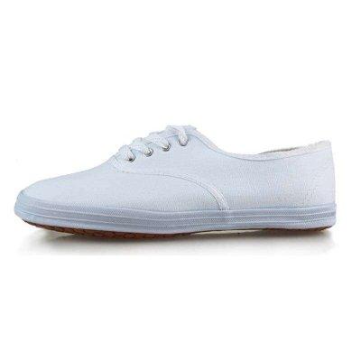 DOUBLESTAR雙星DSA001 雙星大白網系帶帆布鞋經典鞋體操鞋武術鞋通用輕便健身男女鞋緞布面
