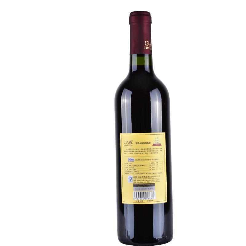 汉森 国产红酒 红葡萄酒 沙漠葡园精选赤霞珠 750ml