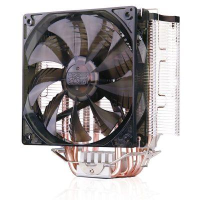 超頻三(PCCOOLER)東海X5 CPU散熱器 多平臺/支持AM4/1151/5 熱管+風冷 散熱器