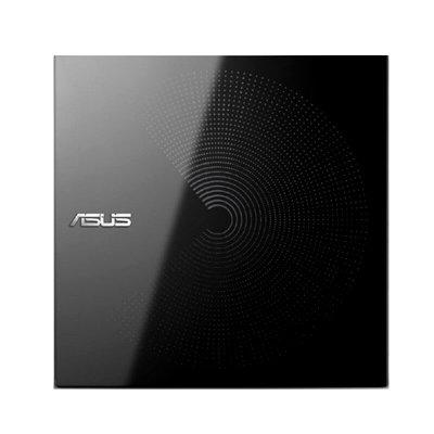 華碩(ASUS)SDRW-08D6S-U 外置便攜式 移動刻錄光驅 DVD刻錄機 黑色鏡面刻錄光驅