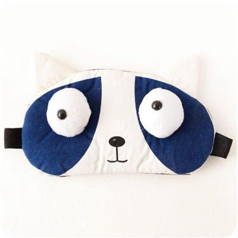 绿盒子 韩版卡通遮光眼罩旅行眼罩 可爱睡眠学生午睡冰敷眼罩
