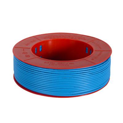 【官方旗舰店】德力西家装 电线电缆 6平方铜芯线BV 单芯线 单股硬线蓝色 50m