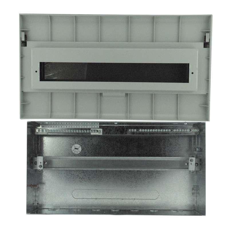 abb 强电配电箱/暗装/塑料面盖/20回路空气开关箱 acp