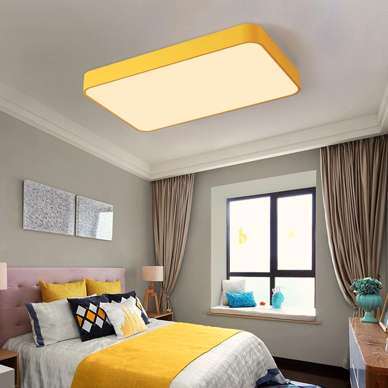 马卡龙吸顶灯长方形家用大气亚克力45客厅灯简约现代灯具北欧卧室灯图片
