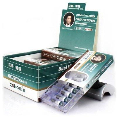 zobo正牌 拋棄型煙嘴 一次性過濾嘴 磁石三重過濾 煙具正品ZB-032