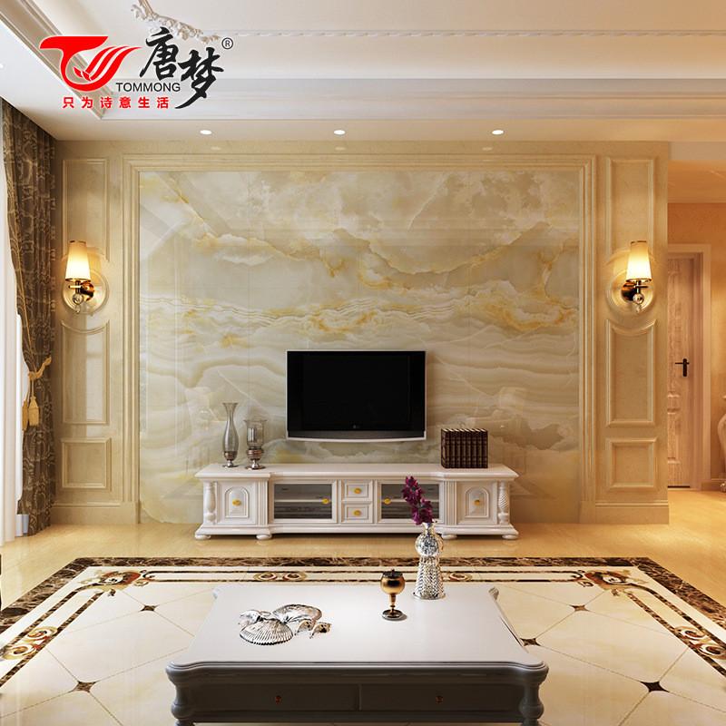 唐梦欧式客厅电视瓷砖背景墙边框线条仿大理石罗马柱背景墙护墙板图片