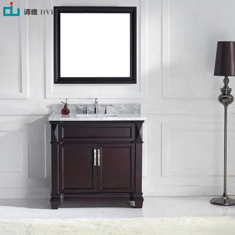 谛唯 美式浴室柜 欧式浴室柜 仿古卫浴柜 洗脸盆柜组合 洗手台 d7008