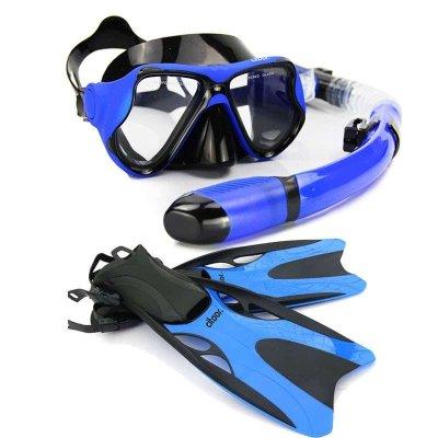 希途(citoor)潜水镜套装 全干式呼吸管脚蹼 浮潜三宝 装备马尔代夫海岛C2Y36