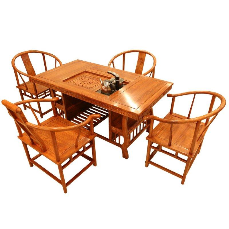 泡茶长方形 非洲花梨木实木组合功夫茶几茶艺桌 红木家具将军台