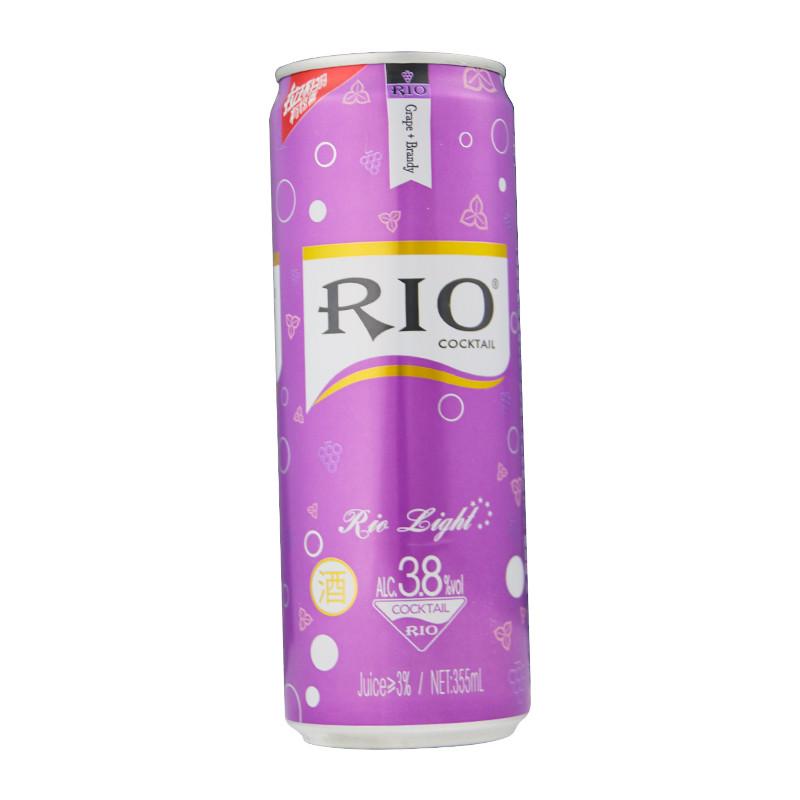 锐澳(rio)洋酒 鸡尾酒 预调酒 微醺 355ml 紫葡萄听装图片