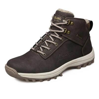 左丹狼(ZUODANLANG)冬季户外登山鞋保暖鞋高帮减震耐磨徒步鞋防滑户外登山鞋ZDL-572