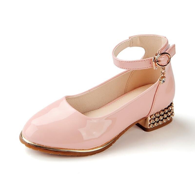 童鞋女童皮鞋公主鞋亮面儿童单鞋2017秋季新款韩版小学生高跟鞋潮