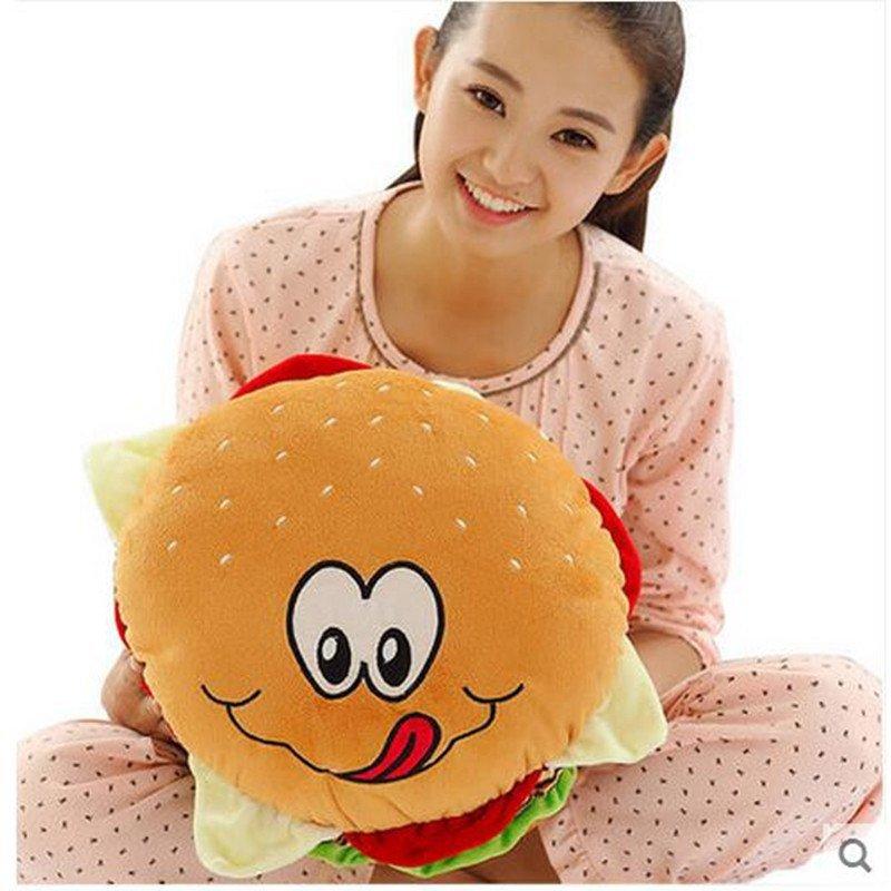 毛绒玩具汉堡包抱枕靠垫家居饰品可爱创意礼品搞怪搞笑玩具