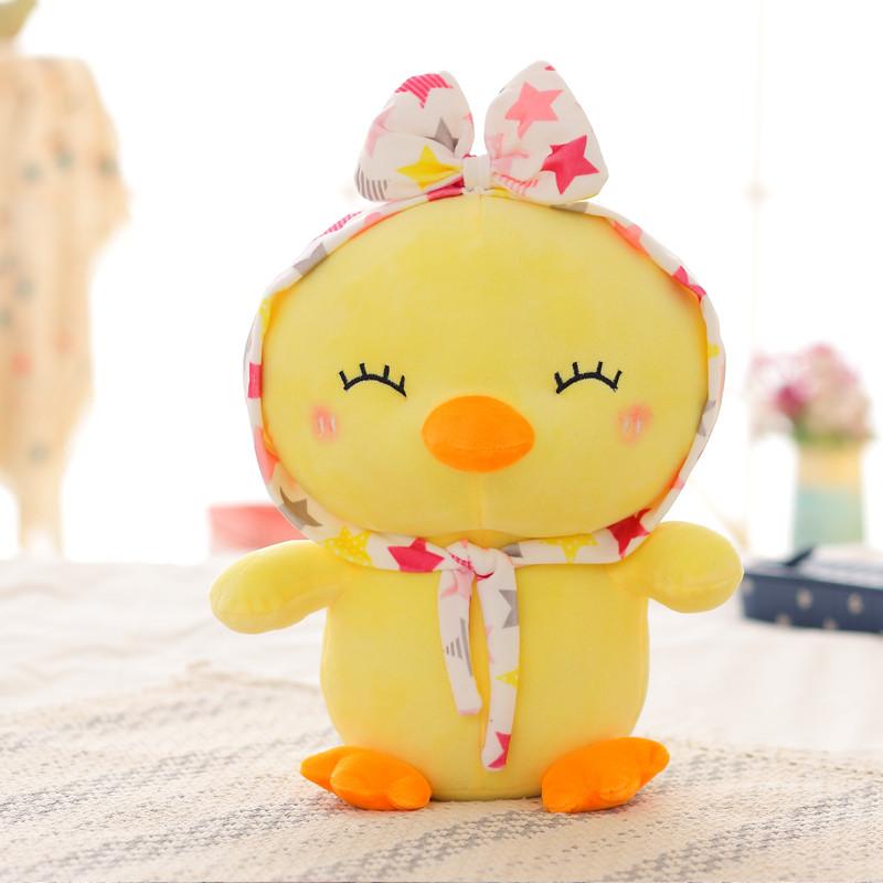 悦达 可爱卡通情侣小黄鸡公仔抱枕毛绒玩具小鸡布娃娃创意生日礼物