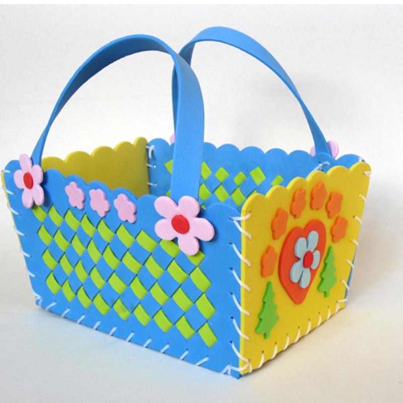 悦达 新款儿童手工制作编织篮diy新年过年礼物幼儿园材料包-单个价图片