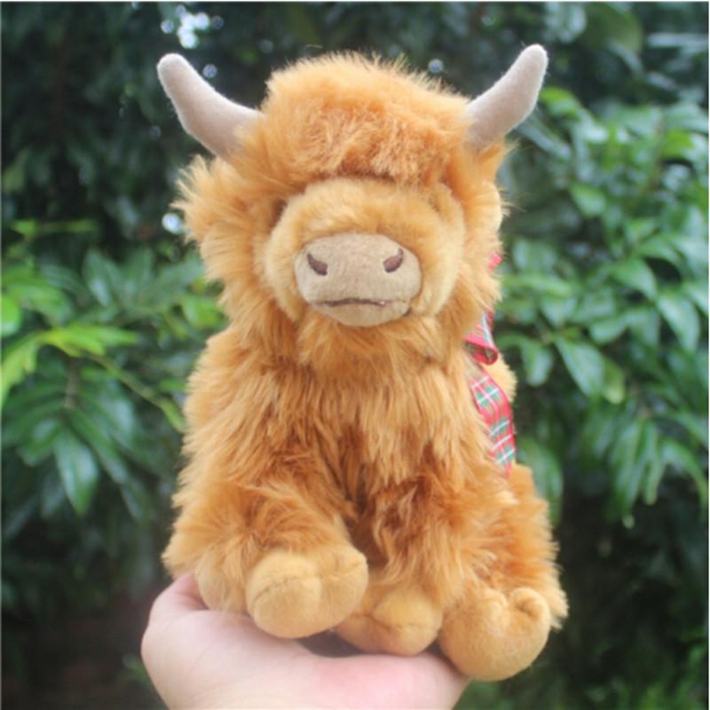 中天乐仿真小牛公仔苏格兰高地牛 毛绒玩具长毛牦牛玩偶 情人节生日