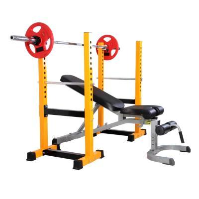 騏駿 升級款分體式半框式深蹲架臥推架舉重床 多功能力量訓練健身器材(加商用健身椅)