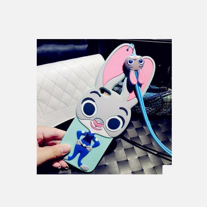 三千易°疯狂动物城苹果6s手机壳钻硅胶iphone6plus朱迪兔子挂绳女