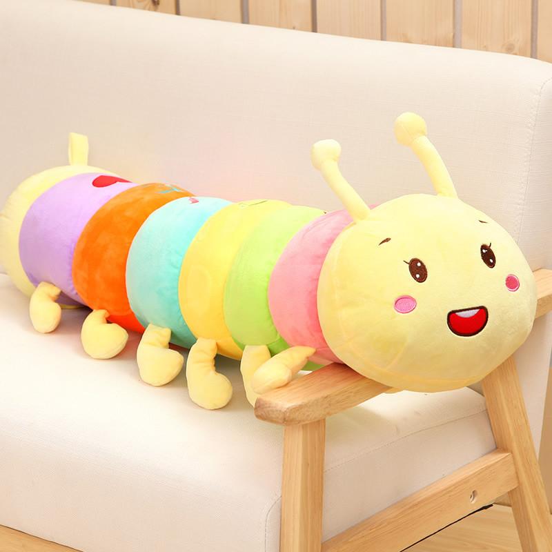 三千易 毛毛虫抱枕可爱大虫子公仔洋娃娃男睡觉抱枕毛绒玩具女孩生日