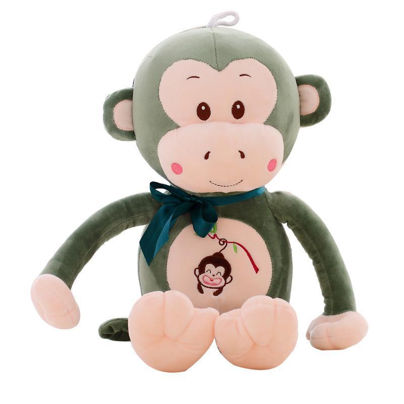毛绒玩具布娃娃玩偶公仔 创意情人节生日礼品送女生 100cm绿色呆萌猴