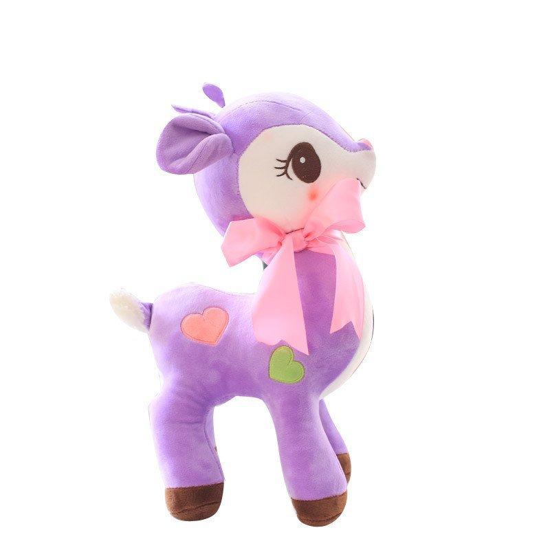安吉宝贝可爱彩色梅花鹿毛绒玩具小鹿公仔抱枕布娃娃