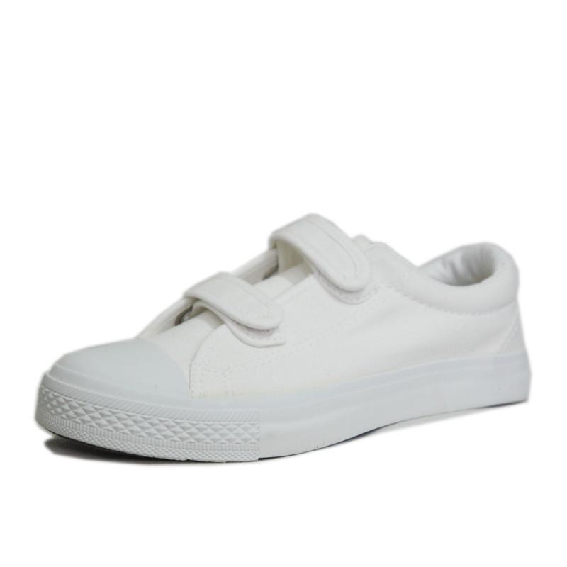 青岛双星 儿童帆布鞋 运动休闲鞋 白色表演色 板鞋