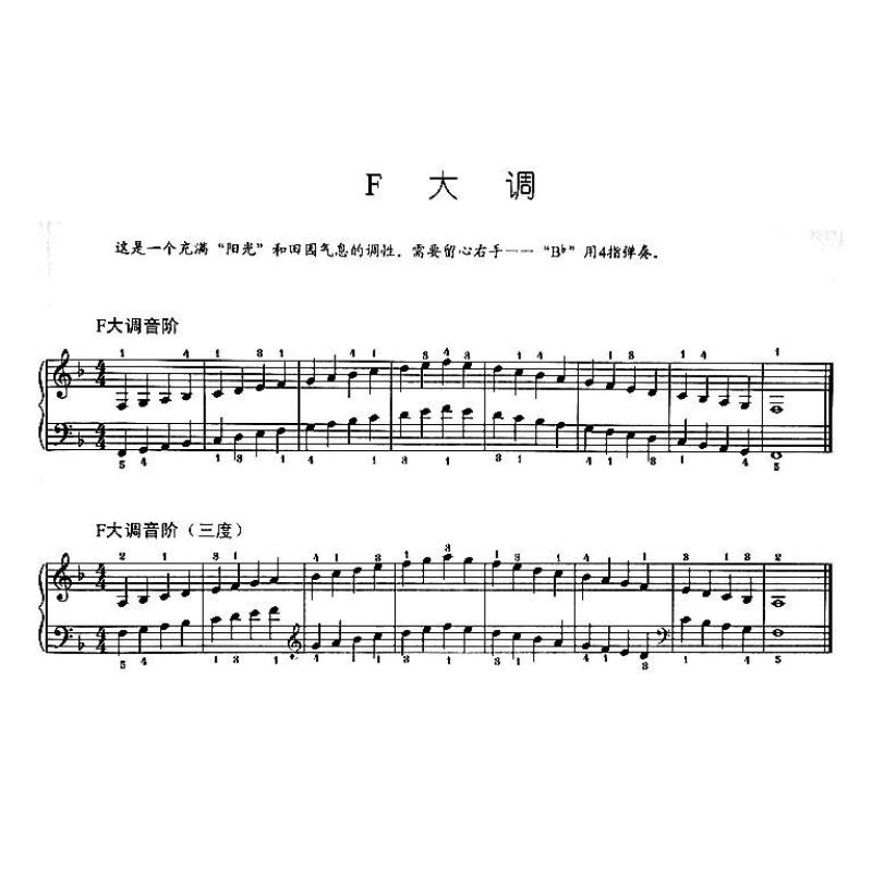 钢琴爬音阶曲子谱子
