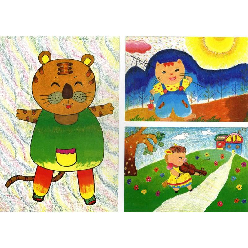 新编儿童绘画入门教程 少儿油画棒动物篇