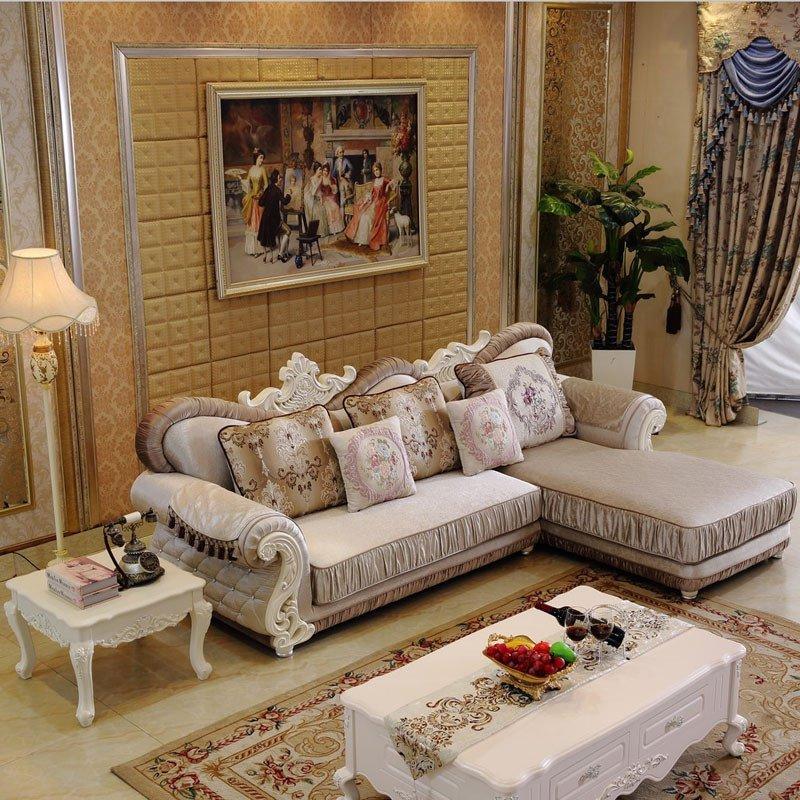 欧施洛 沙发 欧式沙发欧式实木布艺沙发贵妃小户型布艺沙发组合简欧图片