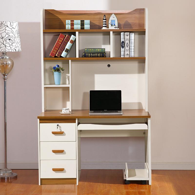 欧施洛 书桌书台地中海直角书台办公桌书桌书柜组合学生书台组合家具