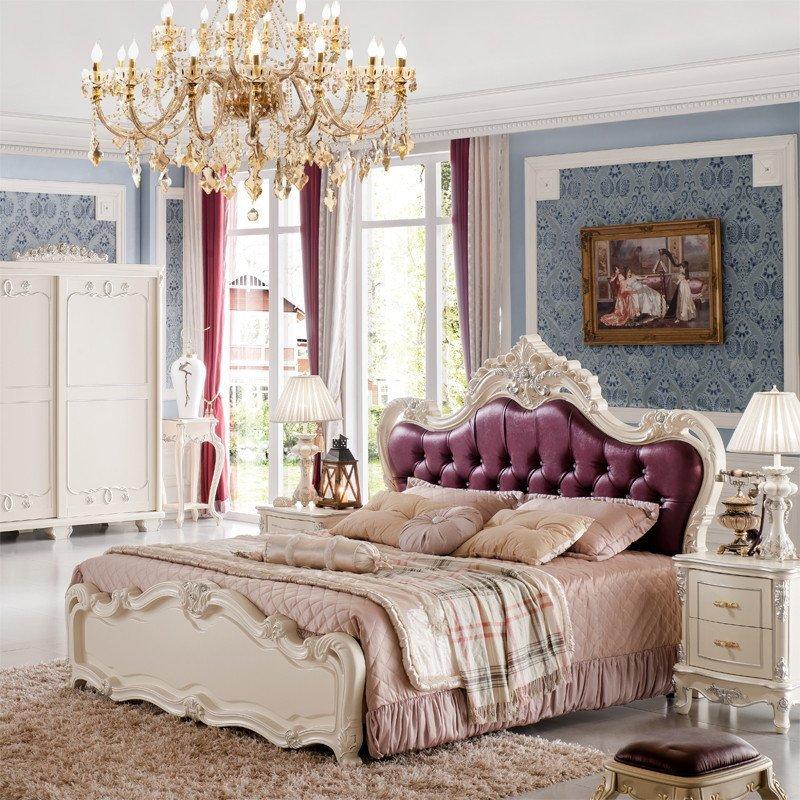 法丽莎家具g2欧式床雕花实木床公主双人床排骨架床a830
