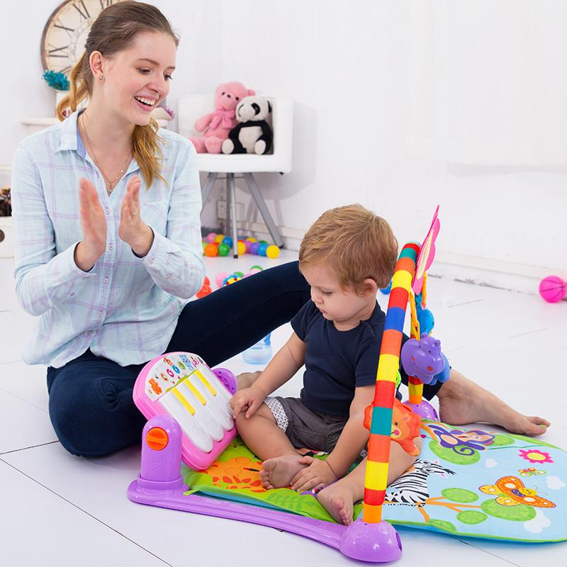 【欧培健身架】婴儿健身架脚踏钢琴健身架宝宝健身器