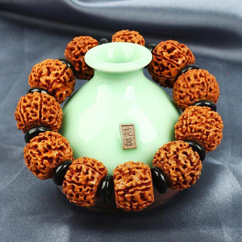 悦木之源 天然藏式七瓣金刚菩提手链 男款 男士 手链图片