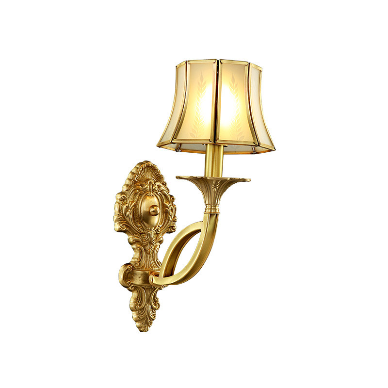 月影凯顿欧式全铜壁灯 美式壁灯 墙壁灯 床头壁灯 床头灯客厅卧室图片