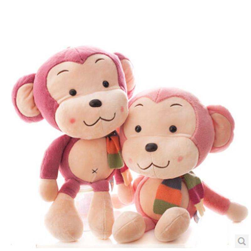 毛绒玩具大号卡通可爱布娃娃围巾猴子大嘴猴公仔玩偶生日礼物女 kl