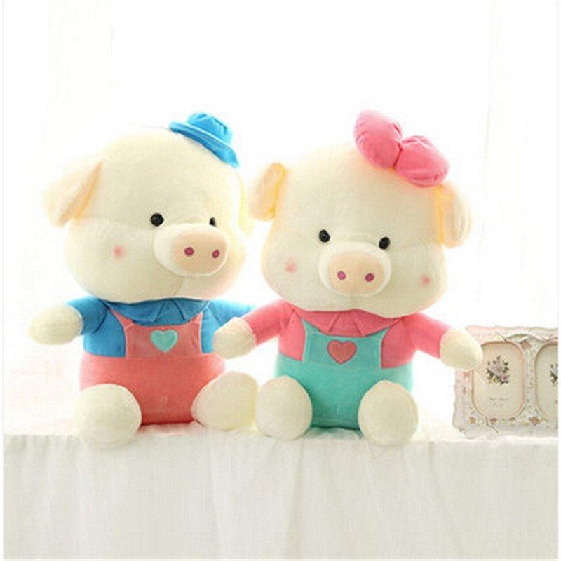 男女圣诞礼物情侣猪猪公仔 毛绒玩具大号可爱麦兜布娃娃三顺玩偶 生日