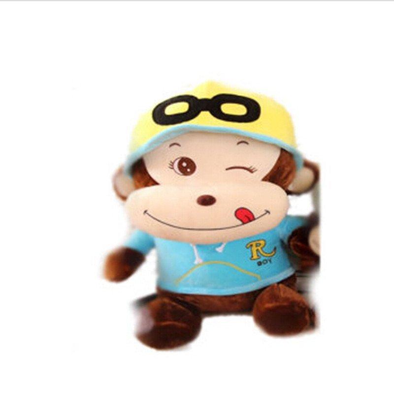 男女圣诞礼物可爱卡通戴帽子猴子公仔 眨眼睛猩猩毛绒
